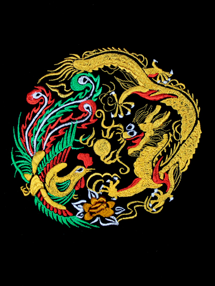 Dragon and Phoenix embroidery Tai Chi Tranquility