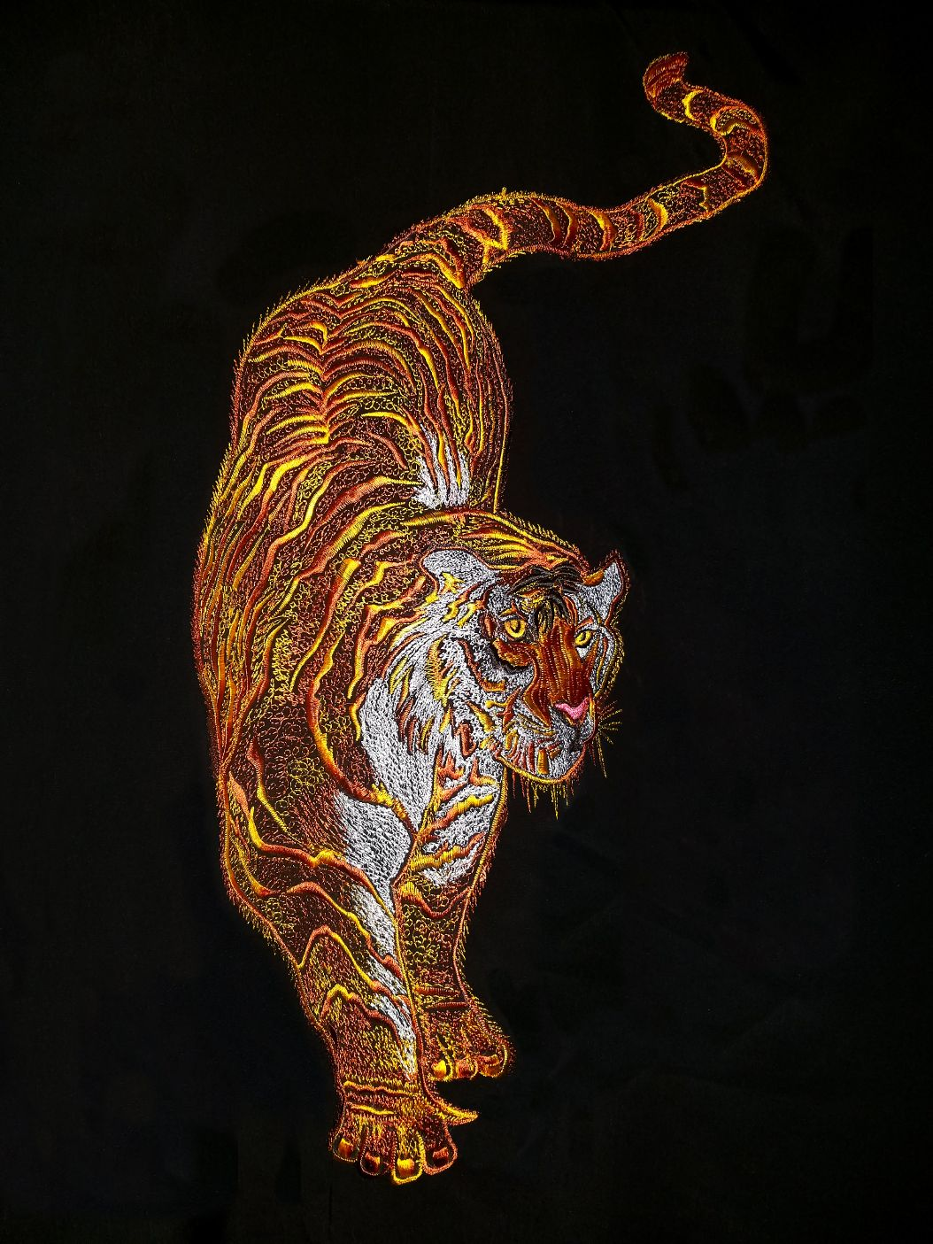 Tiger embroidery by Tai Chi Tranquility