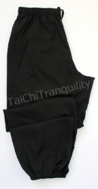 "PANTS Black Cotton Silk L Short 36"" Waist REDUCED"