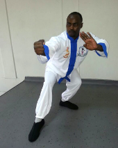 Boniface from Martial Arts Fitness Cultural and Sporting Centre Uganda