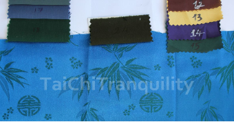 Color matching for customer's Tai Chi Uniform