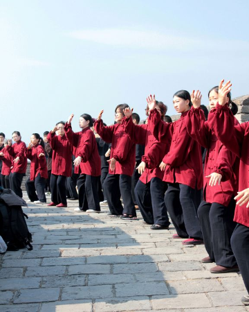 Tai Chi on the Great Wall of China