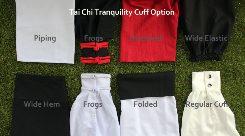 Tai Chi Uniforms cuff options by Tai Chi Tranquility