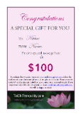 GIFT CERTIFICATES : Tai Chi Tranquility