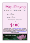 Gift Voucher Happy Thanksgiving $100