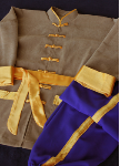 Traditional Suit Cotton Spandex and Gold Trim
