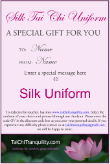 Gift Certificate Silk Uniform $160